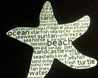 CUSTOM beach word art