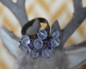 Adjustable and glass beads and crystals Swarovski