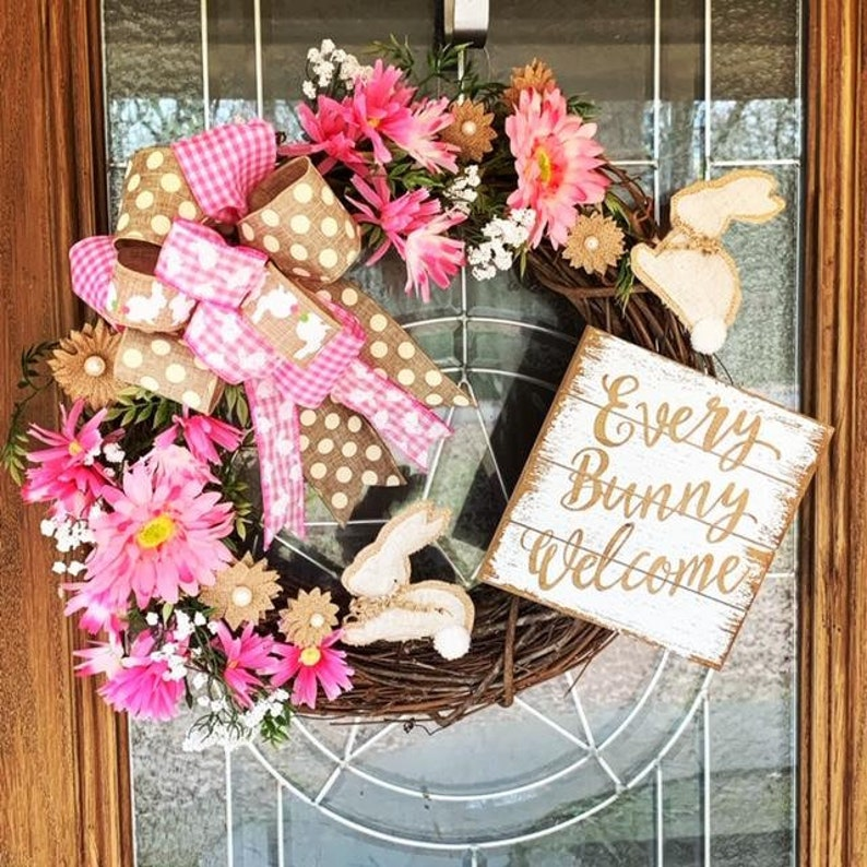 Every Bunny Welcome Spring Wreath Easter Every Bunny Welcome image 0