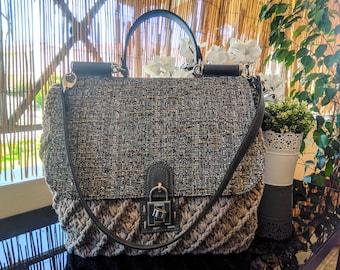 Luxury Handmade Knitted Crochet Bag in Beige Color