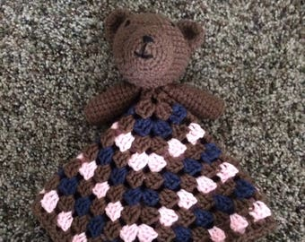 Crochet Teddy Bear Lovey