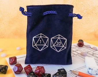 D20 Gaming Dice College Tote Cotton Canvas Backpack  CinchSack