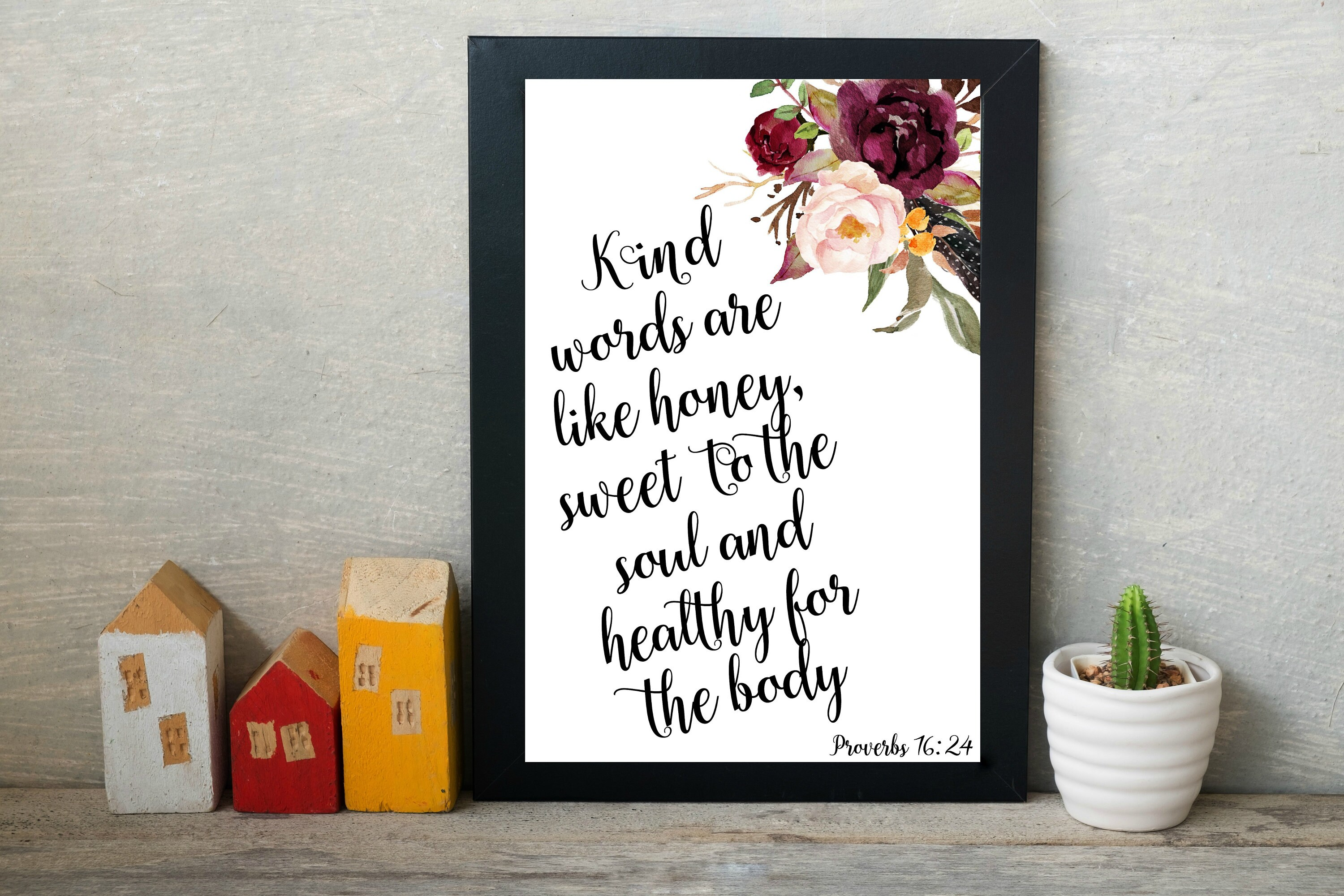 Proverbs 16 24 Bible Verses About Kindness Quotes On Etsy