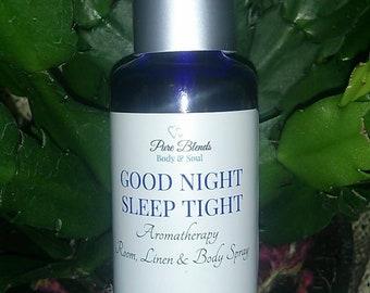 Good Night Sleep Tight Aromatherapy Spray | Sleep, Relaxation & Calm