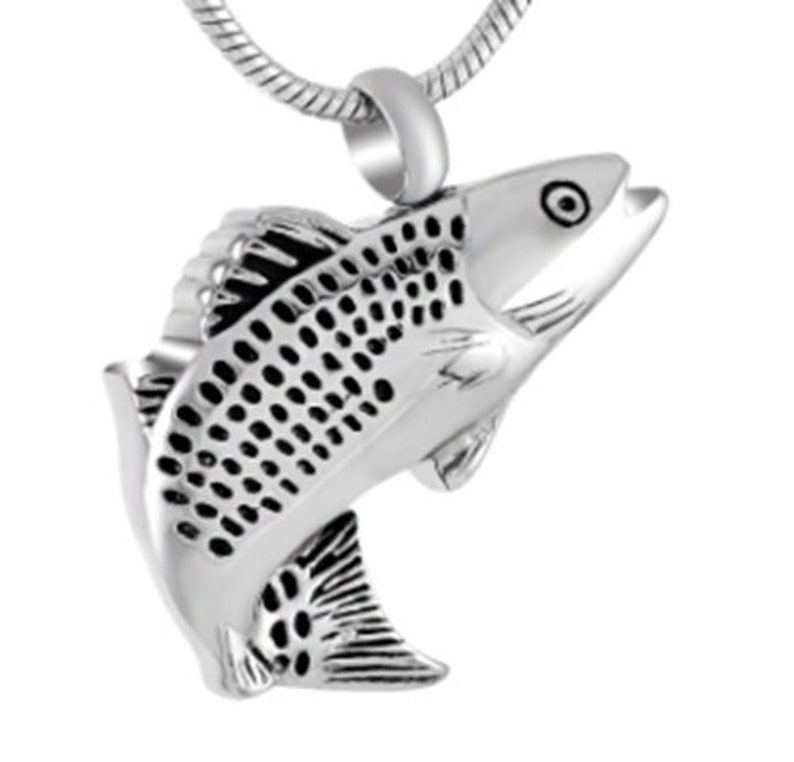 Chain Sold Separately Fancy Fish Cremation Pendant