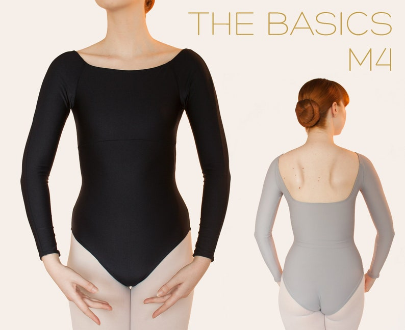 M4 Ballet Leotard Long Sleeve Square Neck image 0