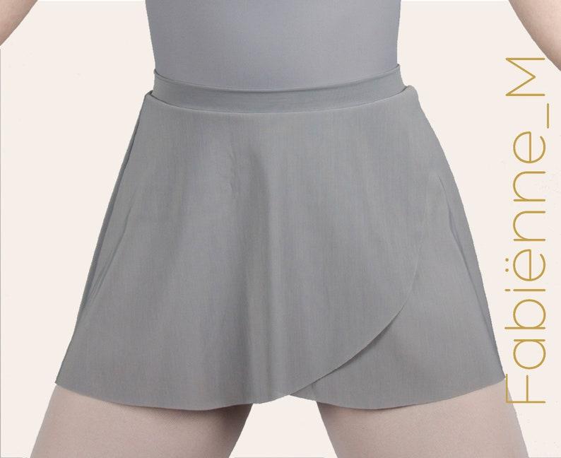 FABIËNNE mesh pull-on wrap skirt image 0