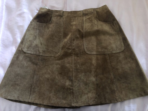 60s/70s suede mini skirt!!