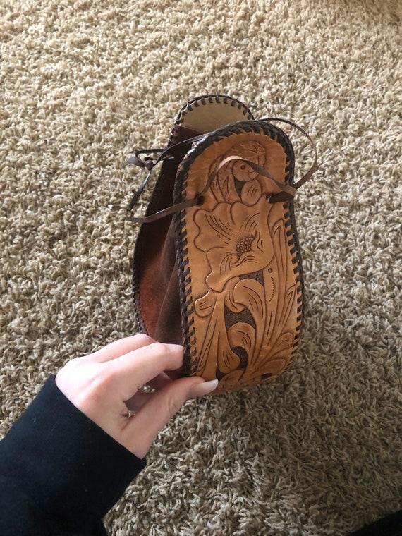 60s/70s  boho sack purse! - image 3