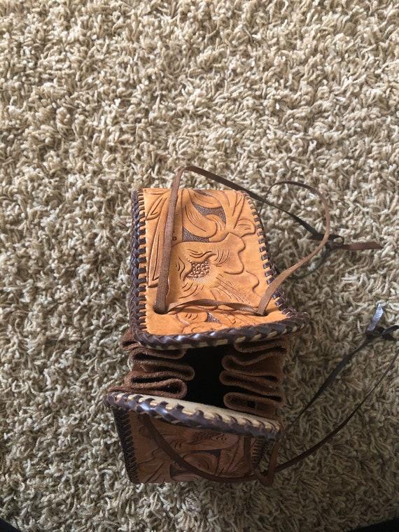 60s/70s  boho sack purse! - image 6