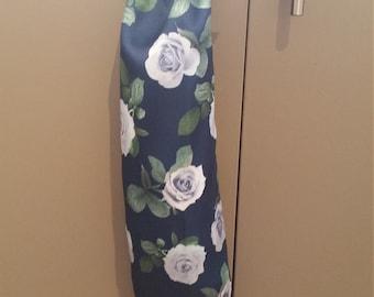 White Rose Grocery bag holder Free Shipping Plastic Bag Holder Bag Dispenser Recycling / Gift for her
