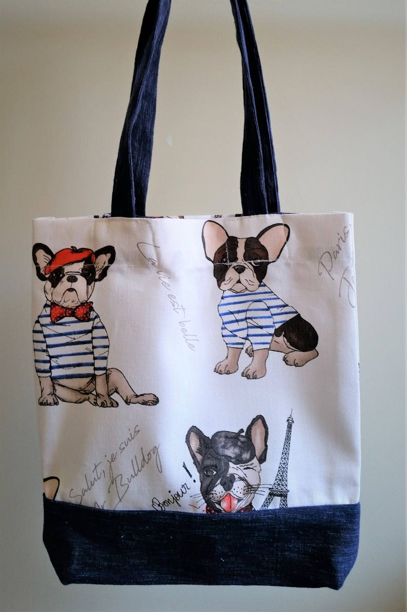 Free Shipping World Wide French Cats Tote Cotton Linen Tote bag  Eco Bag Shopping Bag Library  Grocery bag Tote Bag Gift for her