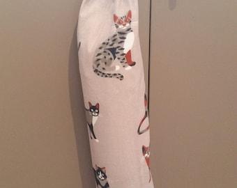 Cat Grocery bag holder Free Shipping Plastic Bag Holder Bag Dispenser Recycling / Gift for her
