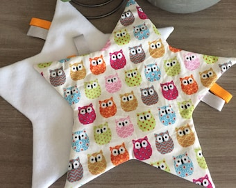 Security blankets star per set of 2 toys