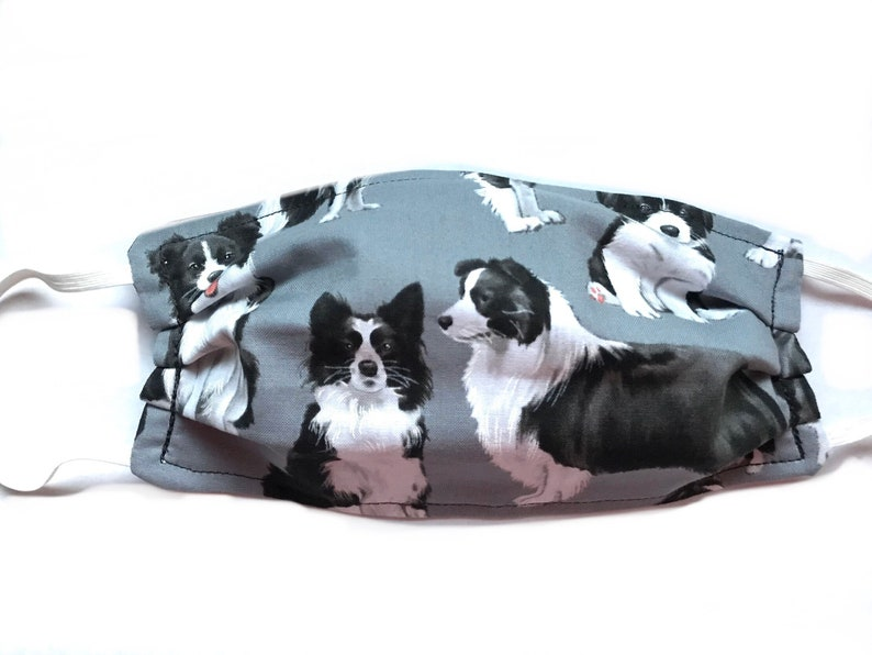 Border Collie Face Mask Collie Protective Face Covering Dog image 0