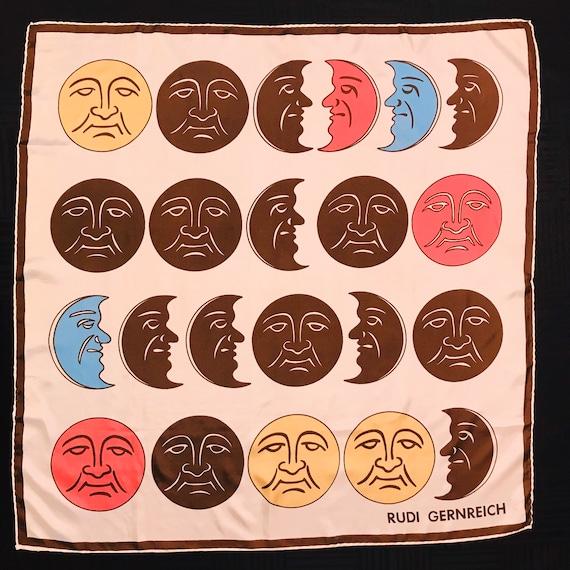 """Rudi Gernreich Vintage 100% Silk Scarf 31"""" Square"""