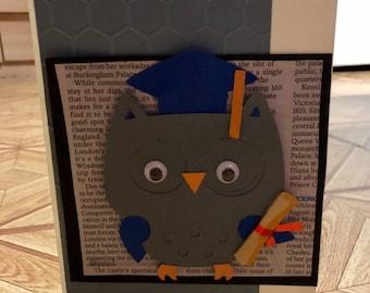 Owl graduate card