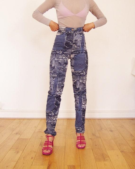 90's //Vintage Cottonade printed pants - image 5
