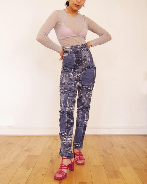 90's //Vintage Cottonade printed pants - image 2