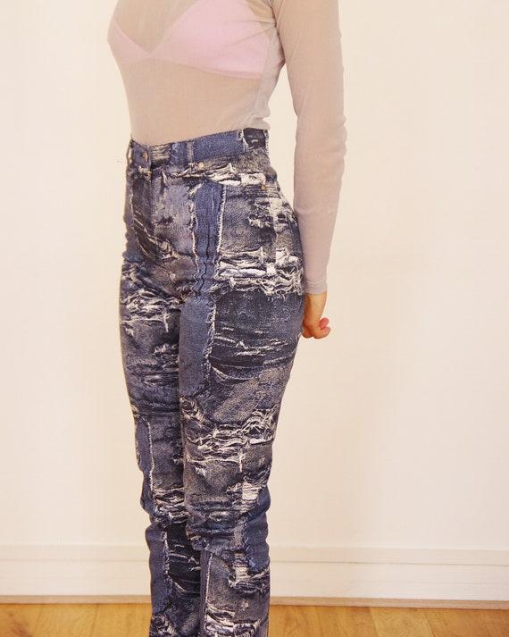 90's //Vintage Cottonade printed pants - image 3