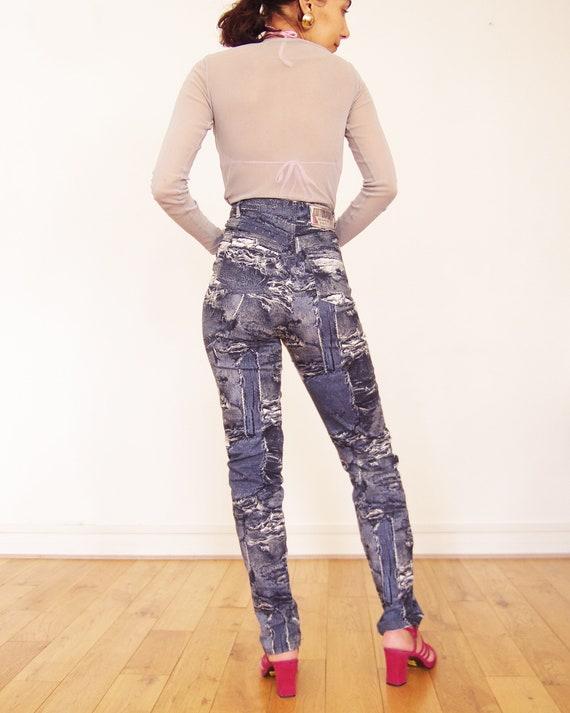 90's //Vintage Cottonade printed pants - image 4