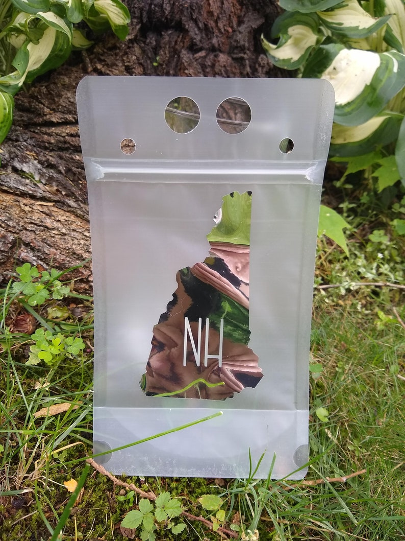 Reusable Drink Snack Pouch Zip /& Sip Sassy Prints Newfound Lake New Hampshire