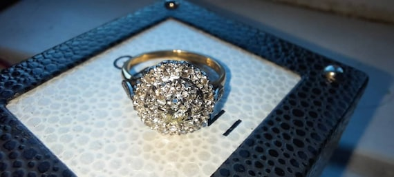 Vintage 1960s 18ct Gold Diamond Cocktail ring - image 7