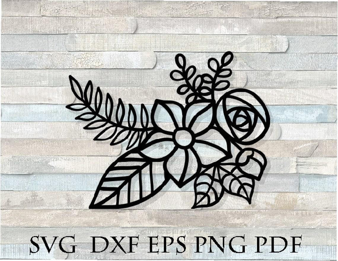 Floral Rose Zentangle Mandala Svg Cricut Silhouette Stencil Etsy
