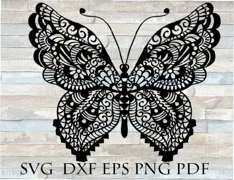 Download Butterfly svg mandala zentangle svg | Etsy