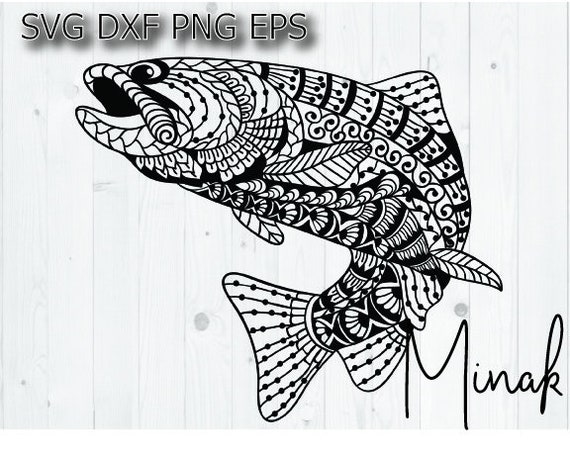 Download Bass Fish Mandala Svg Fishing Girl Shirt Svg Ocean Fish Design Etsy