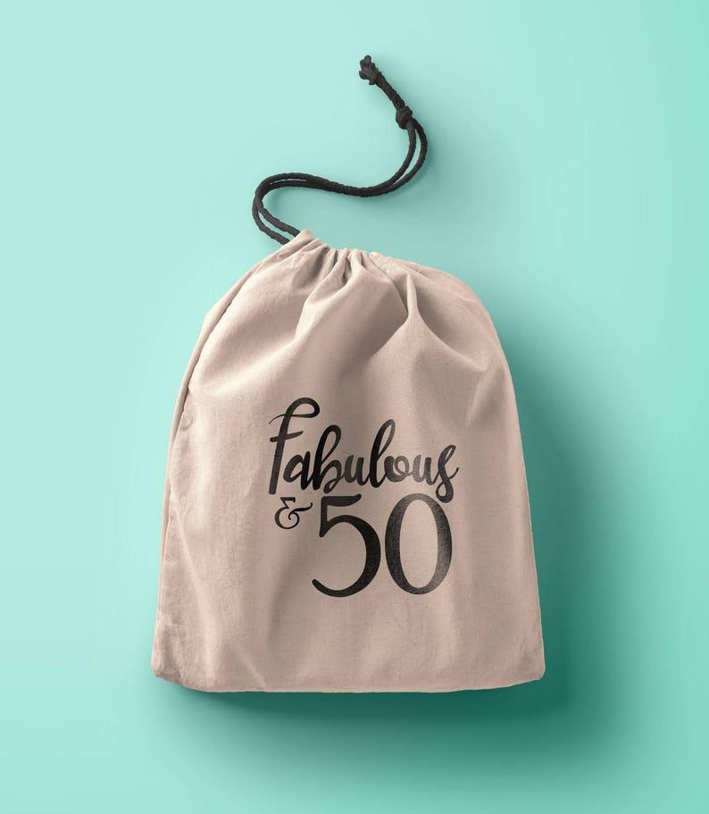 50th 20th 21st 30th 40th 60th Birthday Favor Bags