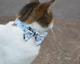 Paisley Fish Cat Bow Tie