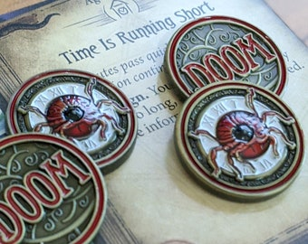 Arkham Metal Doom: Creeping Despair - Unofficial Luxury Doom Tokens Compatible with Arkham Horror LCG