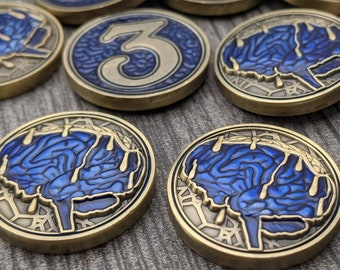 Arkham Sanity: Melting Mind - Single - Unofficial Luxury Metal Tokens Compatible with Arkham Horror LCG