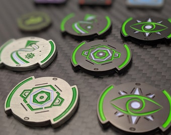 X-Wing Metal Elite Maneuver - Evade, Focus, Calculate Token - Luxury Unofficial Compatible with X-Wing Miniatures
