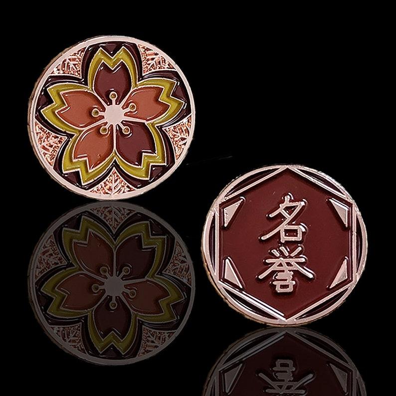 L5R Metal Fate: Autumn Garden Sakura Fate/Honor Token Limited image 0