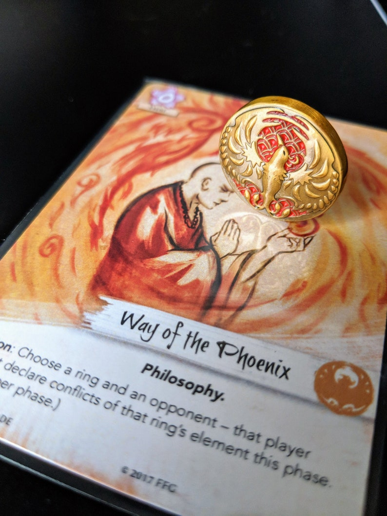 L5R Metal Fate: Phoenix Luxury Tokens/Coins  Unofficial image 0
