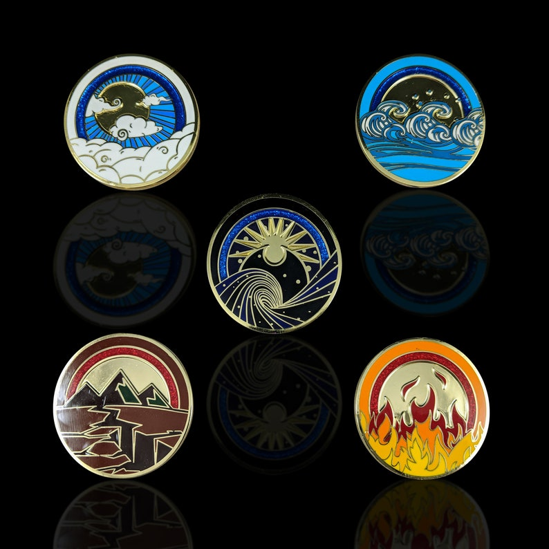 L5R Prize Elemental Rings Unofficial Metal Tokens for Legend image 0