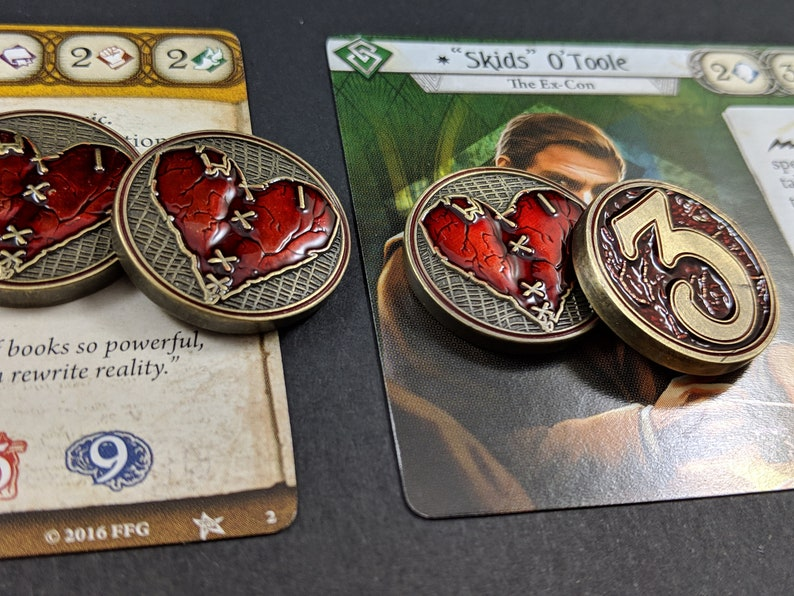 Arkham Metal Health: Wounded Heart Tokens  Unofficial Luxury image 0