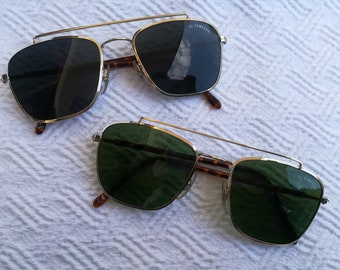 730c6e101f EL CAMPERO Original Vintage Sunglasses 60s green lenses gray lenses Aviator  square