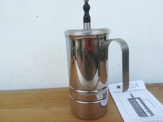 Early ANCAP stovetop moka pot probably 60s very decorative coffeemaker,made in Italy