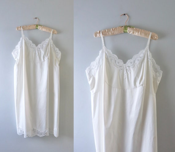 Vintage 60s Ivory White Slip Dress 2X