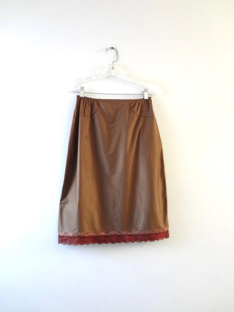 Vintage Brown Half Slip M  1970s Formfit Rogers Chocolate image 0