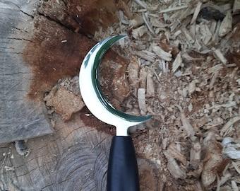 Boline // black wood handle