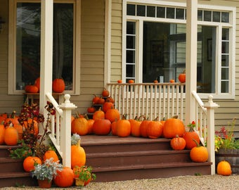 Photograph: Pumpkins on Porch