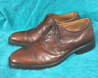 4865c798f309 English UK size 11 Vintage extra wide Clarks leather shoes Derbys brogues  shoes beautiful condition sizes Euro 44 - USA 13