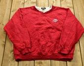 Vintage 1990s Ohio State University Collegiate Crewneck NCAA Sweatshirt Americana Sportswear Athleisure