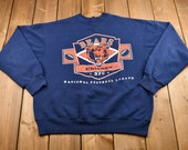 Vintage 1990s Chicago Bears Graphic Crewneck Sweatshirt NFC 90s Pullover NFL Vintage Sportswear Athleisure Made In USA