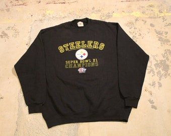 Vintage Black Lee Cooper Embroidered Crewneck Sweatshirt Size Large Letterman Style Varsity