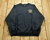 Vintage 90s Government Graphic Sweatshirt Non-Lethal Weapons Instructor Souvenir Athleisure Embroidery Back Graphic